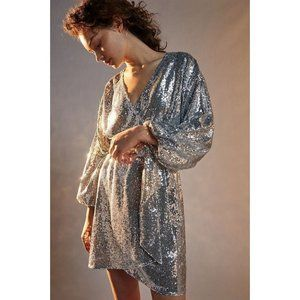 ANTHROPOLOGIE Lisabette Sequined Dress Prom Party